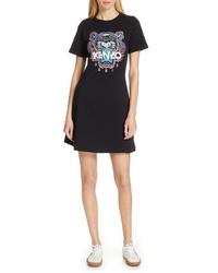 Kenzo Tiger Embroidered T Shirt Dress