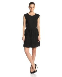 Vince Camuto Two By Short Sleeve Embroidered Dress