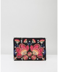 Floral embroidered clutch medium 4420369