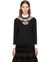 Black embroidered eagle sweater medium 5363512
