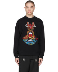 Burberry Black Embroidered Mermaid Sweater
