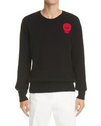 Alexander McQueen Crochet Skull Applique Sweater