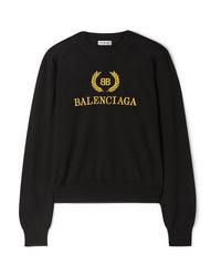 Balenciaga Embroidered Wool Sweater