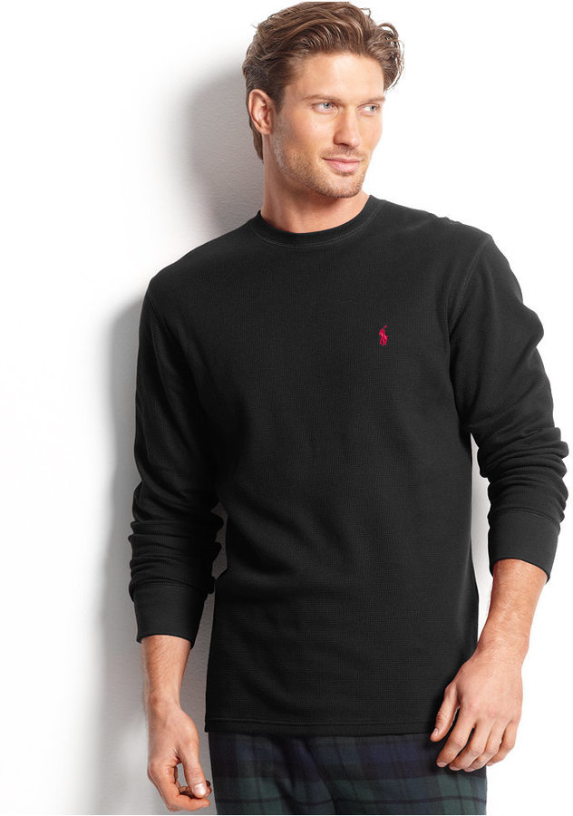 c037d5a8df8ad ... Polo Ralph Lauren Loungewear Big And Tall Long Sleeve Crew Neck Waffle  Thermal Top ...