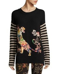 Wool embroidered sweater medium 4397893