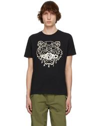 Kenzo Black Beige Tiger T Shirt