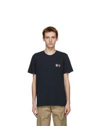 MAISON KITSUNÉ Black Double Fox Head Classic T Shirt