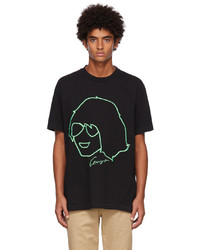 Kenzo Black Embroidered Graphic T Shirt