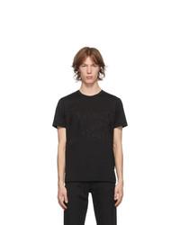 Fendi Black Logo Tape T Shirt