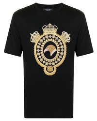 Stefano Ricci Embroidered Design T Shirt