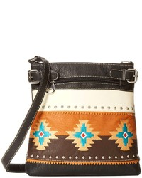 Black Embroidered Crossbody Bag