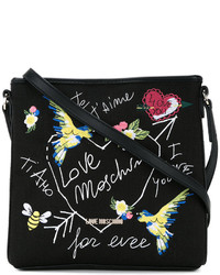 Love Moschino Bird Embroidered Crossbody Bag