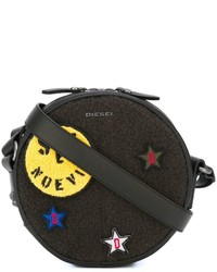 Diesel Embroidered Patch Crossbody Bag