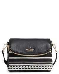 Kate Spade New York Jackson Street Embroidered Harlyn Crossbody Bag Black