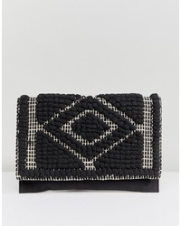 Pieces Woven Cross Body Bag