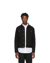 Givenchy Black Denim Signature Logo Jacket