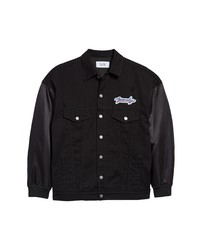 Givenchy Logo Mixed Media Jacket