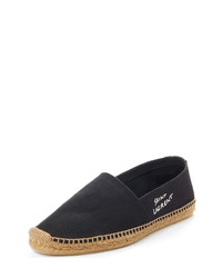 Saint Laurent Embroidered Espadrille Slip On
