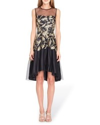 Tahari Embroidered Fit Flare Dress