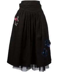 Marc Jacobs Embroidered Tulle Skirt