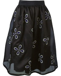 Jupe By Jackie Floral Embroidered Full Skirt
