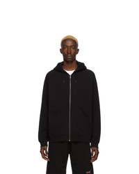Givenchy Black Zipped Signature Hoodie