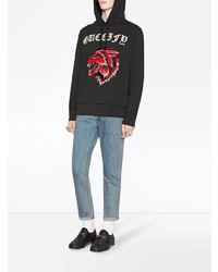 3812d99a340 ... Gucci Fy Cotton Sweatshirt With Wolf