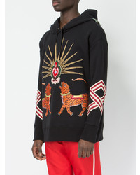 d52ce8015d2 ... Gucci Tiger Embroidered Hooded Sweatshirt ...