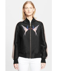 Stella McCartney Embroidered Appliqu Bomber Jacket