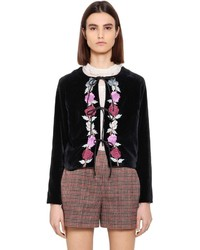 Floral embroidered velvet jacket medium 4417732