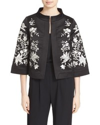 Ted Baker London Abhy Embroidered Stand Collar Jacket