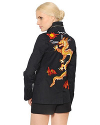 Valentino Dragon Embroidered Gabardine Jacket
