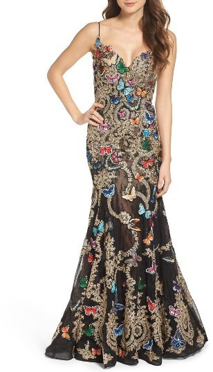 Mac Duggal Butterfly Lace Applique Gown | Where to buy & how to wear