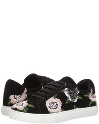 Rebecca Minkoff Bleecker Floral Embroidery Lace Up Casual Shoes