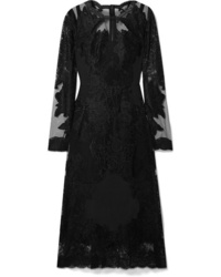 Dolce & Gabbana Embroidered Lace And Midi Dress