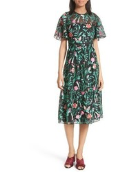 Kate Spade New York Jardin Embroidered Lace Midi Dress