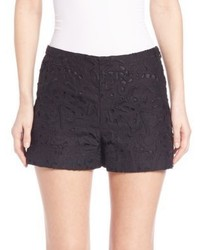 Theory Micro Embroidered Lace Shorts