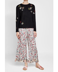 RED Valentino Embroidered Pullover With Lace