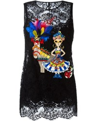 Dolce & Gabbana Sicilian Embroidered Motif Top