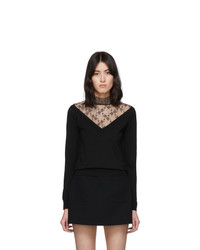 RED Valentino Black Lace Turtleneck