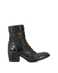 Fauzian Jeunesse' Fauzian Jeunesse Embroidered Ankle Boots