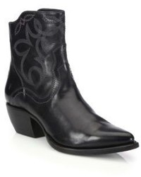 Frye Shane Embroidered Leather Booties