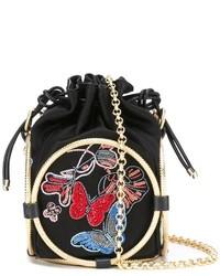 Alexander McQueen Beaded Bucket Shoulder Bag