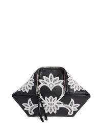 Alexander McQueen Embroidered Leather Butterfly Pouch