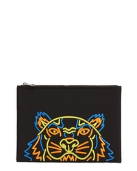 Kenzo Embroidered Zip Pouch