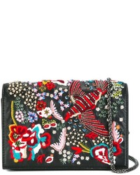 Alice + Olivia Aliceolivia Embroidered Bird Shoulder Bag