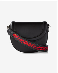 Express Embroidered Strap Cross Body Bag