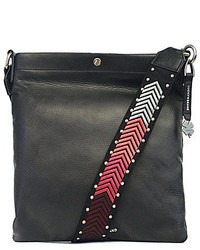 Lucky Brand Farrah Cross Body Bag With Embroidered Guitar Strap