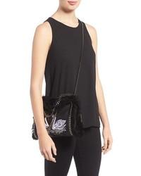 c9b967423498 ... Stella McCartney Mini Falabella Shaggy Deer Embroidered Faux Leather  Crossbody Bag Black ...