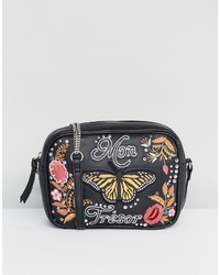 Asos My Treasure Leather Embroidered Stud Camera Bag